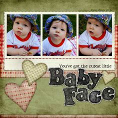 Baby Boy Scrapbook Layout Ideas | Baby Scrapbook Layout Designs Images