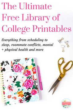 Get more organized in every aspect of your life with the ULTIMATE free library of college printables! I've got you covered on finance, academics, fitness, and more! Click here to get started! college printable, college worksheet, printables for college students, college resource, free college resources,