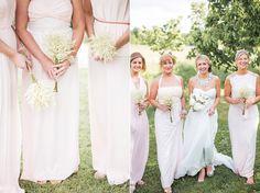 Bridesmaids wear Blush Pink dresses | Photography by http://www.mandjphotos.com/