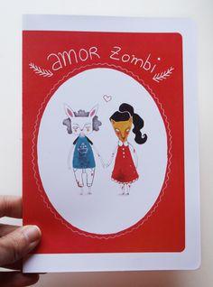Tarjeta San Valentín Amor Zombie