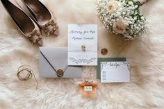 Real grey, mid green and a touch of gold, bound by a vellum wrap and twine bow 🌿💚 Touch Of Gold, Custom Wedding Invitations, Twine, Blush, Bow, Letters, Detail, Grey, Simple