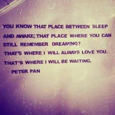 Peter Pan is my favorite