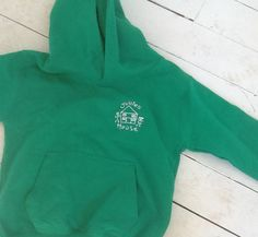 Bottle Gren Kids hoodie for Jollies House embroidered with logo.