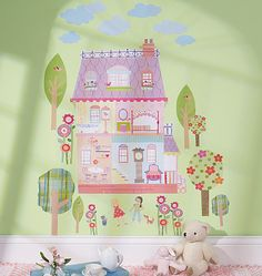 W13526 wallies.com Playhouse decal. Dress up a closet door or wall. Removeable! $11 this is so cute.
