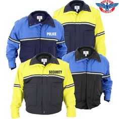 b9638fad12015 First Class Waterproof Zip-Off Sleeve Bike Patrol Jacket with Removable  Liner - West Coast Uniforms and Accessories