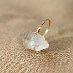 natural crystal ring crystal quartz ring natrual by Flowercrystal