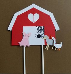 Charlotte's Web inspired Cake Topper by BellasPerfectParty on Etsy