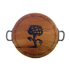 Mud Pie Artichoke Round Serving Board Set   - Home Goods - Office - Leisure - Jewelery and Accessories - For Him - For Her - Pets - Kids - Gadgets - Occasions - Top Brands - Unique Gifts - http://www.whimsicalumbrella.com #KateSpade #JonathanAdler #Lilly #LillyPulitzer #Bandoo #Accents #Olivia #Bathroom #Kitchen #Storage #Bedroom #HomeArtZinc