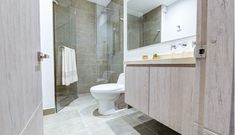 Vista96 Toilet, Vanity, Bathroom, One Room Apartment, Home Theater Design, Apartments, Projects, Dressing Tables, Washroom