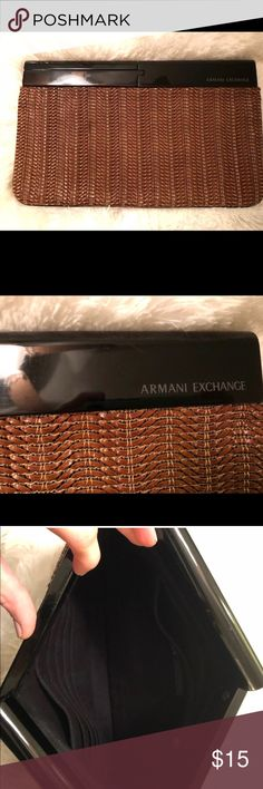 Oversized clutch Oversized clutch, never used. A/X Armani Exchange Bags Clutches & Wristlets