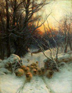 'The Sun Had Closed the Winter Day' by Joseph Farquharson