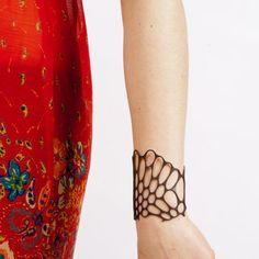 Radiolaria bracelet (black)