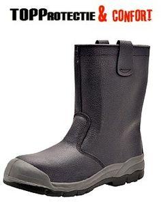 Cizme din piele de bovina imblanite varf acoperit protectie S1P Rubber Rain Boots, Shoes, Fashion, Moda, Zapatos, Shoes Outlet, Fashion Styles, Fasion, Footwear