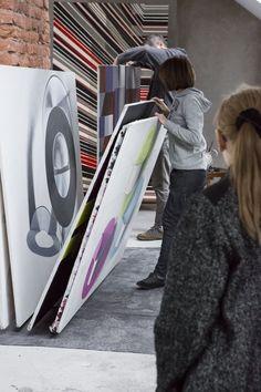 Janina Wierusz-Kowalska, W Pracowni, Art Workshop, fot. Rita Lorenc #art #workshop #abstract #painting