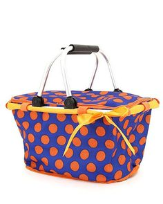 Polka Dot Collapsible Insulated Large Market by YourLettersOfLove, $25.00