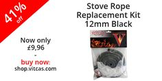Stove Rope Replacement Kit-12mm Dia.Black Fire Rope+Adhesive now only £9.96: http://shop.vitcas.com/stove-rope-replacement-kit-12mm-diablack-fire-ropeadhesive-522-p.asp