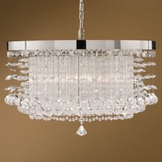 The Uttermost Fascination Chandelier designed by Carolyn Kinder adds a touch of sparkle to your decor. The Fascination Chandelier features a crystal shade, metal body and Chrome Plated finish. Interior Lighting, Home Lighting, Chandelier Lighting, Lighting Design, Chandeliers, Lighting Ideas, Uttermost Lighting, Chandelier Bedroom, Wall Lights