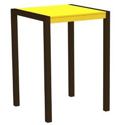 42 Recycled EarthFriendly Outdoor Bar Table  Lemon Yellow with Bronze Frame *** Read more reviews of the product by visiting the link on the image.