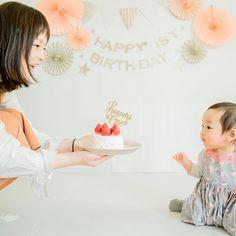 ケーキトッパー【Baby is one ☆】 をご使用していただいたお客様のお写真♡ありがとうございました!