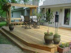 Maybe you would like to upgrade the complete back yard, or perhaps only the patio area. Your patio garden requires a floor finish. With many patio furniture alternatives to pick from you can readily make an outdoor space that is going to be well utilized. Cozy Backyard, Backyard Pergola, Backyard Landscaping, Landscaping Ideas, Corner Landscaping, Pergola Canopy, Deck Patio, Deck With Pergola, Cheap Pergola
