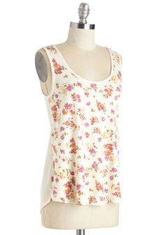 Pop of Pattern Top in Floral. Brighten up your look with the blooming beauty of this ModCloth-exclusive tank! #cream #modcloth