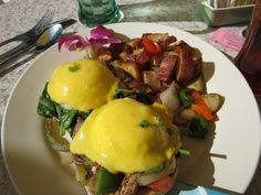 Check out he Eggs Benedict at The Breakfast House...yes that little Sarasota restaurant on Fruitville Rd. is great