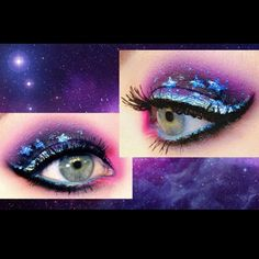 Soooo magical! Check out Goldie Starling's starry eyes using Sugarpill Dollipop eyeshadow. Pretty!