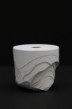 Rolls of Paper Sculpted Into Crisp, Lovely, Abstract Forms | Jeannie Huang