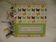 HAPPY BIRTHDAY 6x6 Chipboard Mini Scrapbook Album - PREMADE. $12.99, via Etsy.