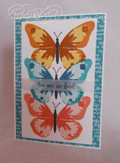 Angela Lorenz: Watercolor Wings Watercolor Wings, Stampin Up, 2015/2016 Annual Catalog, 2015/2016 Annual Catalogue #stampinup #watercolorwings