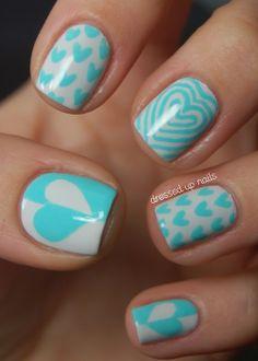Hearts... Nail design