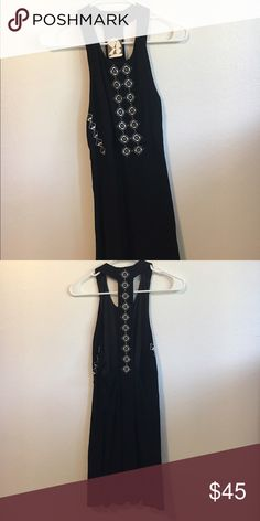 """Urban Outfitters Black dress This dress is supposed to be a """"mini"""" but I am pretty small (5'2"""" and 105 pounds) and it was way too long and roomy for me. I have never worn it and the tags are still on! Urban Outfitters Dresses Mini"""