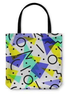 Retro 80s Pattern Tote Bag