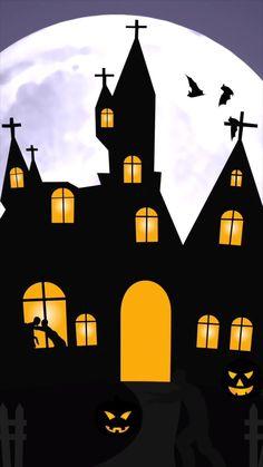 Happy Halloween Gif, Snoopy Halloween, Live Wallpapers, Wallpaper Backgrounds, Halloween Live Wallpaper, Gothic Fantasy Art, Video Background, Beautiful Gif, Anime Music