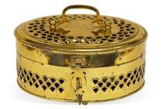 Oversized Brass Cricket Box; $125., regular $175.