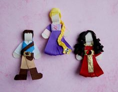 Disney Princess Tangled Hair Bow Clip Set by MySweetPeasCrafts, $5.99