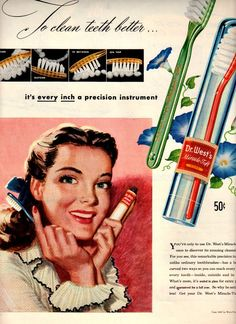 Doctor west toothbrush 1947 advertisement.