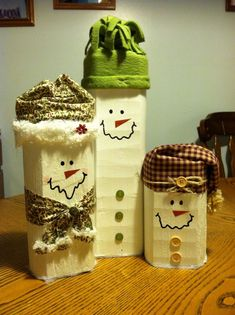 Landscape Timber Snowman | Snowman family made from landscape timbers | small back yard