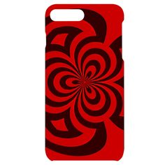 Spiral Abstraction Red, abstract curves pattern, mandala style iPhone 7/8 Plus Black UV Print Case #phone #cases #iphone #apple #mobile Iphone 7, Iphone Cases, Mandala, New Phones, Creative Design, Abstract, Artwork, Prints, Style