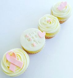 Breast Cancer Awareness Cupcakes by CUPCAKES AND CONFETTI @ CupcakesandConfetti.com