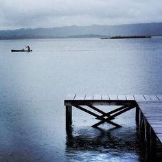 Fisherman on Lake Peten Itza, Guatemala