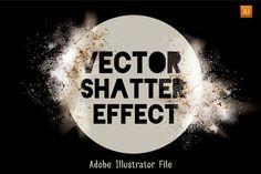 Vector Shatter Effect Set by Transfuchsian on Creative Market