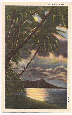 Vintage Hawaii moonlight