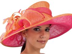 Penelope Wide Brim Kentucky Derby Hat