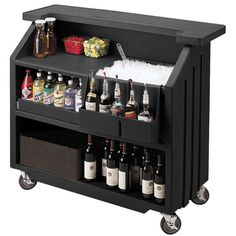 Cambro Portable Bar 540 Black | Mobile Bars Portable Event Bar Outdoor Bars - Buy at drinkstuff
