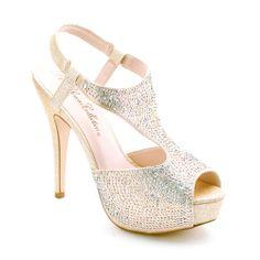 Dressforless Gorgeous Peep Toe Glittering Rhinestone Platform High Heels - Shoes - Womens Shoes - Womens Heels  Pumps