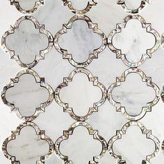 Cassie Chapman Eva Marble & Pearl Tile - Mosaic Tiles