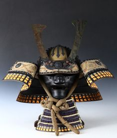 Vintage Japanese Samurai Kabuto HELMET and MASK -WEARABLE- | eBay