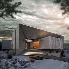 Winter is coming. ✏️Villa by Ras Dream Houses 📍Aalborg, ____ Info: * Designer: * Latest articles 📲 link in… Villa Design, Facade Design, Modern House Design, Exterior Design, Art Et Architecture, Architecture Magazines, Beautiful Architecture, Contemporary Architecture, Conception Villa