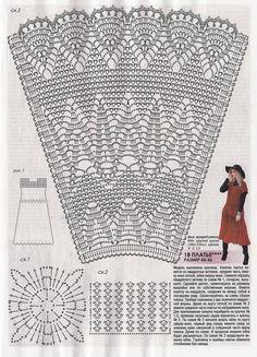 Fabulous Crochet a Little Black Crochet Dress Ideas. Georgeous Crochet a Little Black Crochet Dress Ideas. Crochet Skirt Outfit, Crochet Skirt Pattern, Crochet Skirts, Crochet Stitches Patterns, Crochet Shoes, Crochet Diagram, Crochet Blouse, Filet Crochet, Crochet Clothes